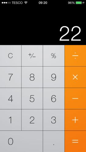 Flat Design of a Calculator