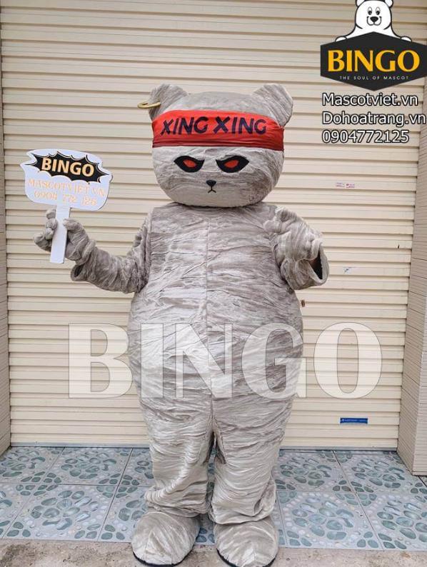 Mascot gấu Xing Xing 1