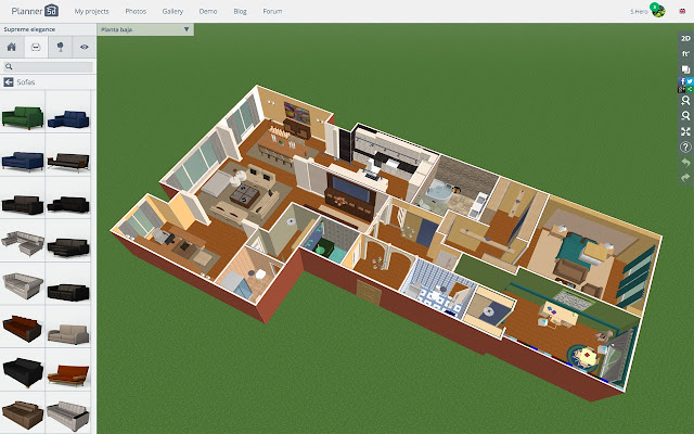 Planner 5d chrome web store for Floor plan maker free no download