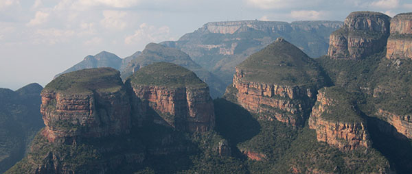 views over the Blyde River Canyon the Panorama Route, Mpumalanga