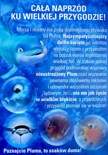 Tył ulotki filmu 'Delfin Plum'