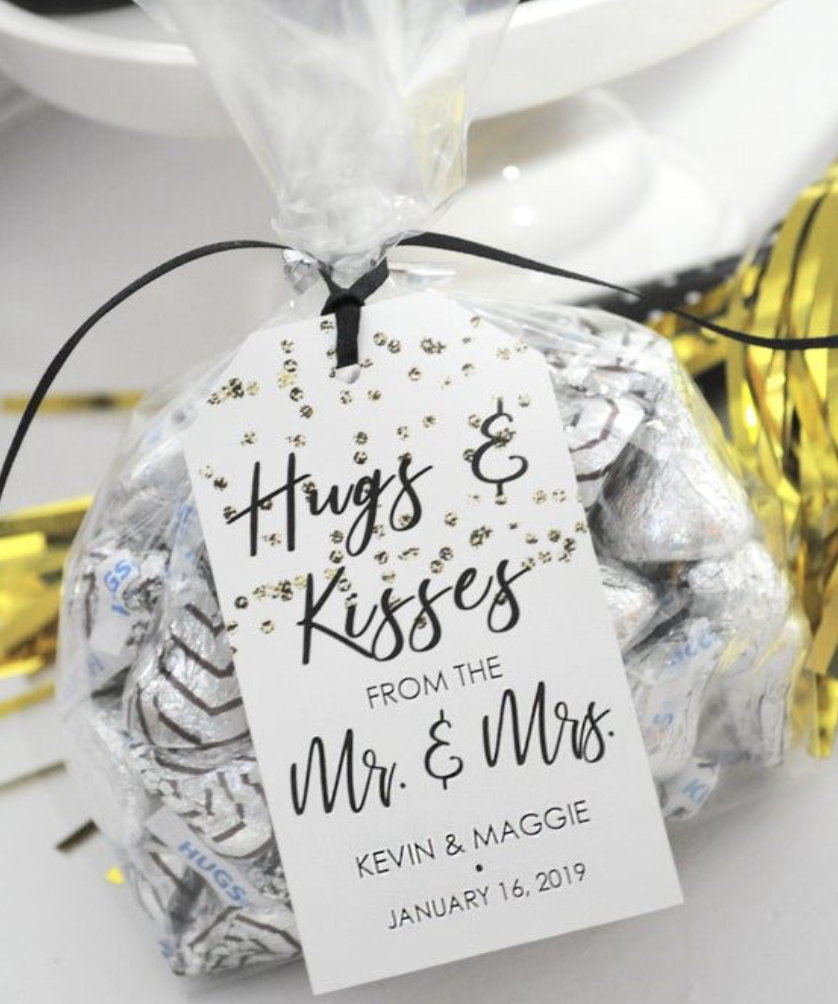 personalized wedding favor chocolate
