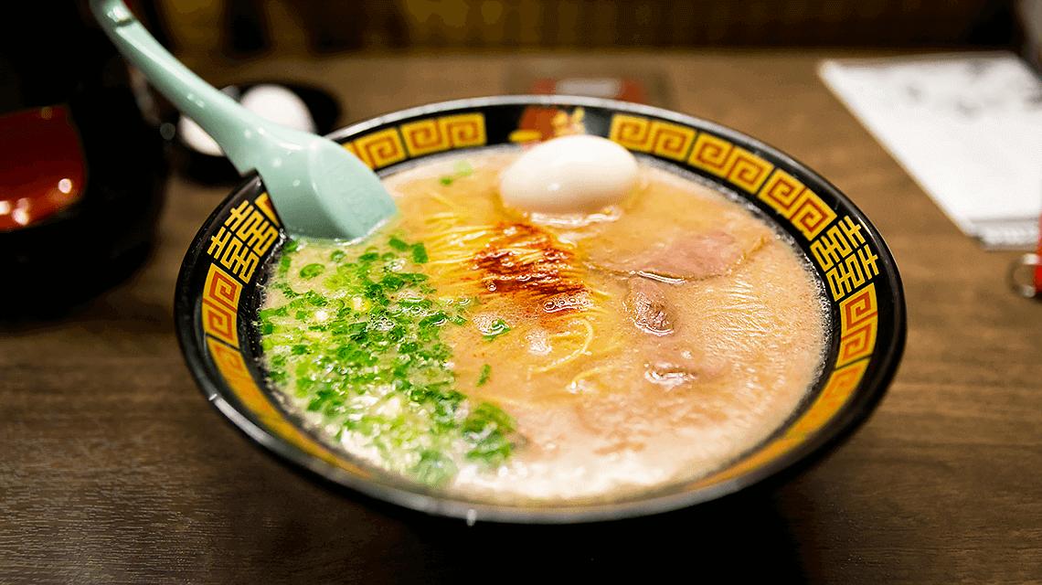 Hakata style tonkotsu ramen from Fukuoka, Japan