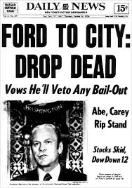 Image result for what year did president ford tell ny to drop dead