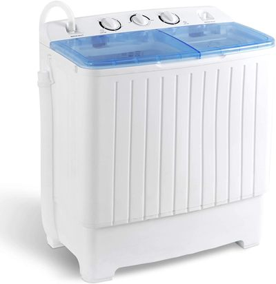SUPER DEAL 2IN1 Mini Compact Twin Tub Washing Machine