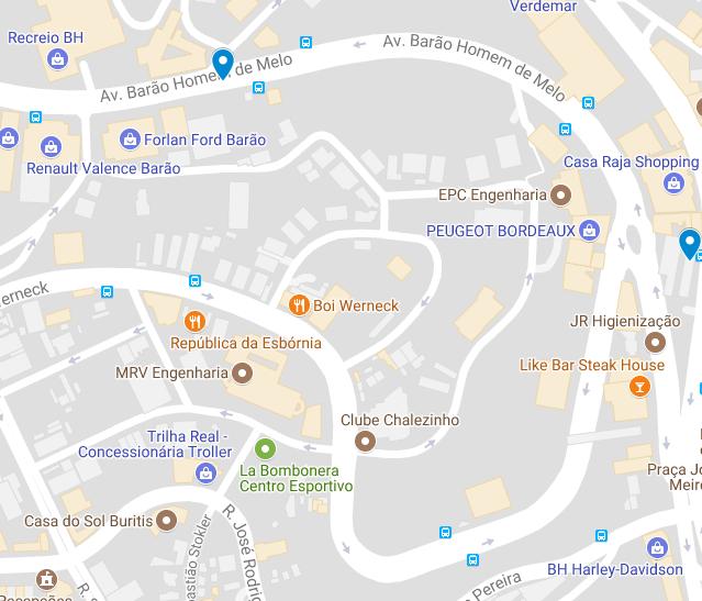 Mapa 5: Localização das duas ofertas no bairro Estoril.