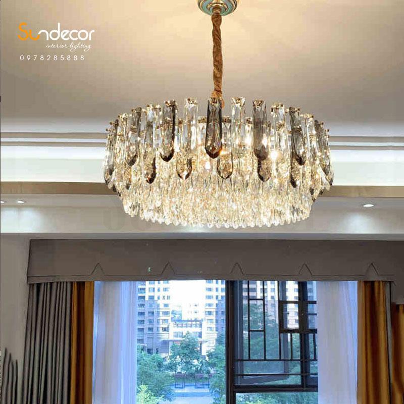 Đèn Chùm Pha Lê Cao Cấp Phòng Khách - GP0188PL