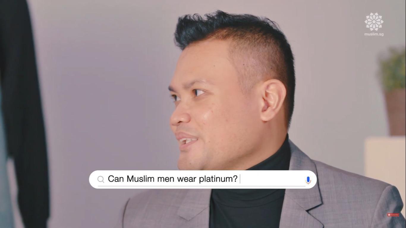 can muslim men wear white gold