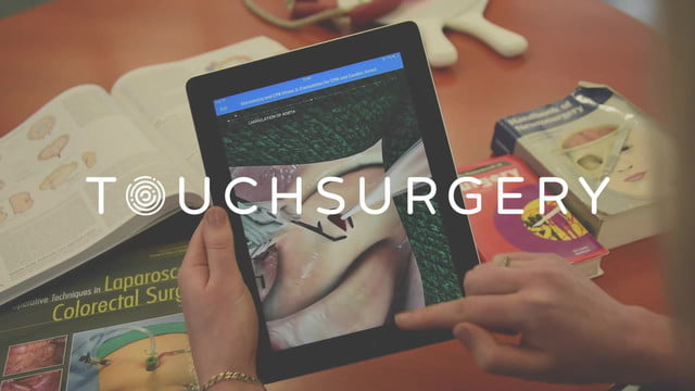 A Tablet dipicting how the Touchsurgery AR App works