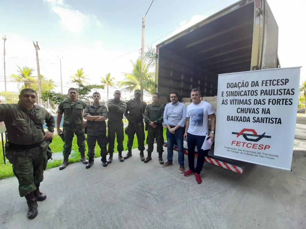 FETCESP e Sindicatos regionais doam cestas básicas para vítimas das chuvas na Baixada Santista