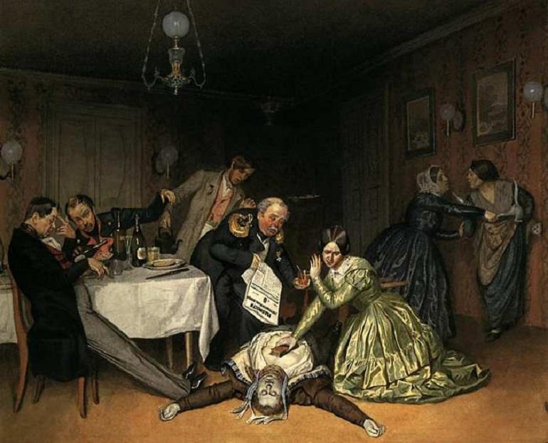 Картина Павла Федотова «Во всем холера виновата»