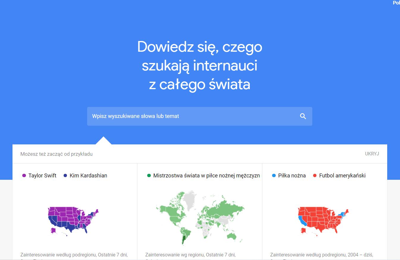 Google Trends krok 2