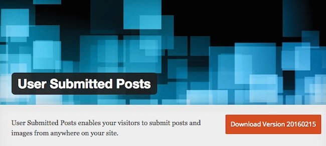 user submitted posts plugin download site