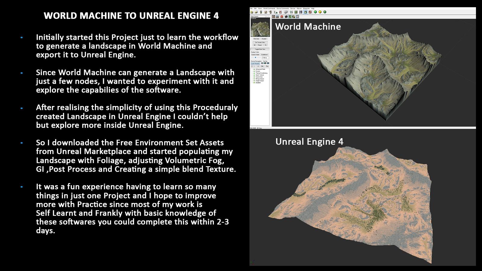 World Machine to UE4 with Srinivas Jalakam - article | CGSociety