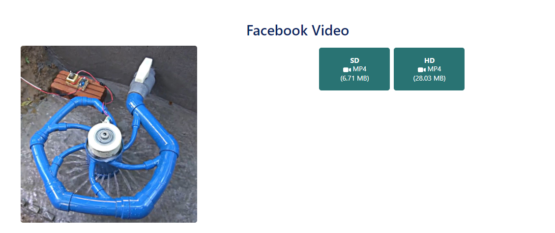 high quality facebook video download