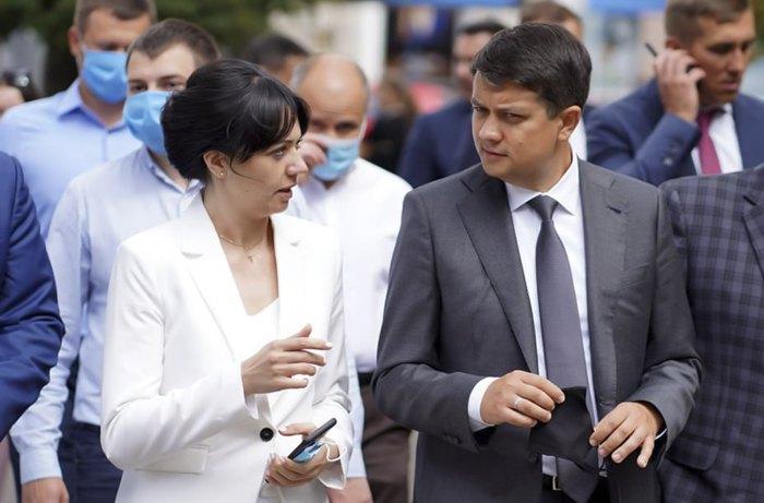 Татьяна Рябуха и Дмитрий Разумков