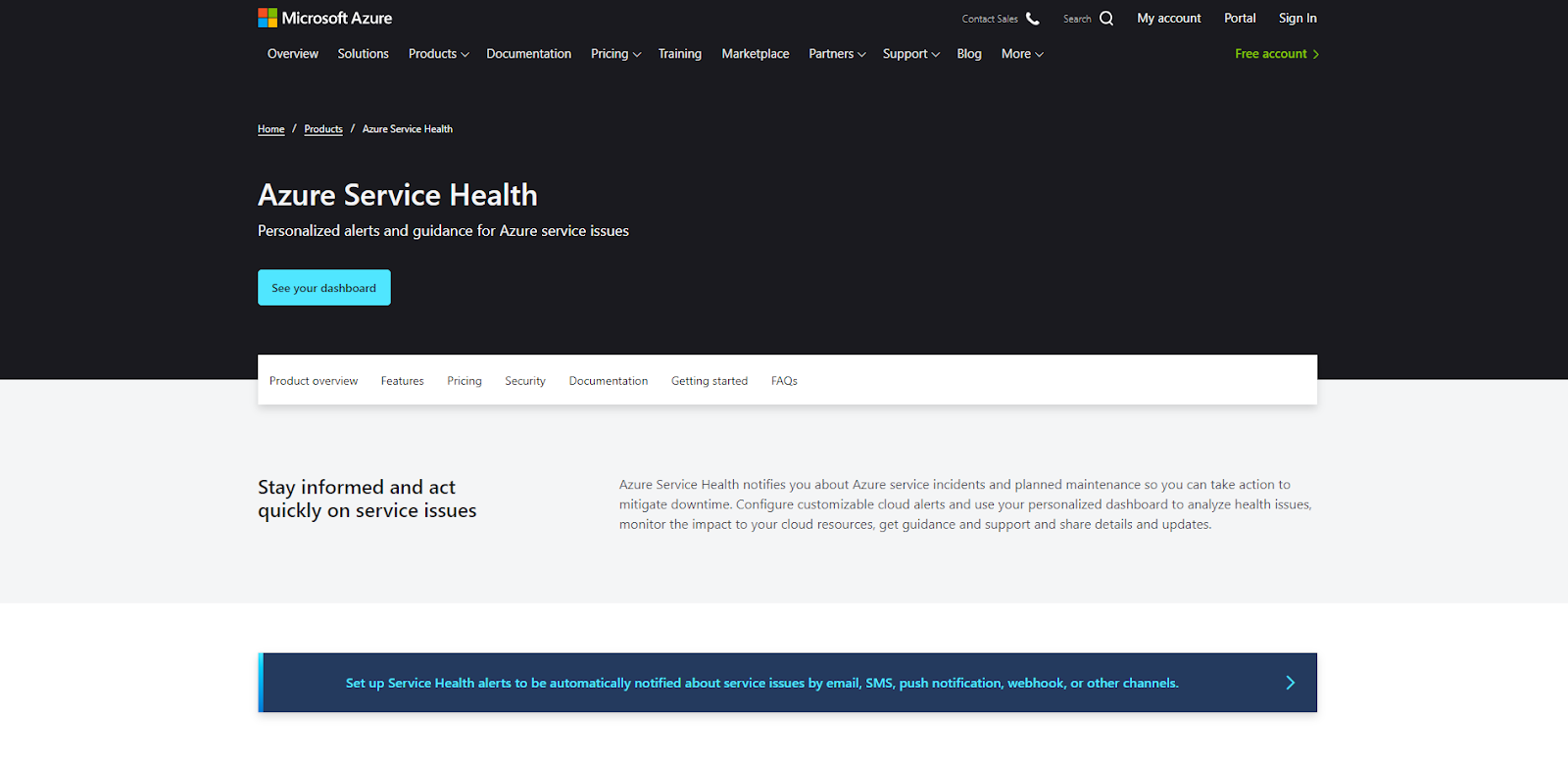 Azure Health Service Network Monitoring Tool