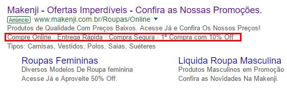 como configurar frase de destaque no google ads