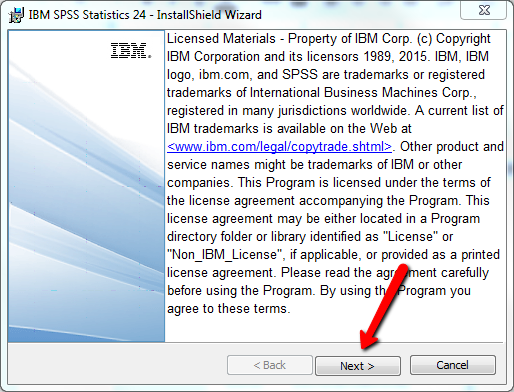 SPSS Install Admin Credentials Approved