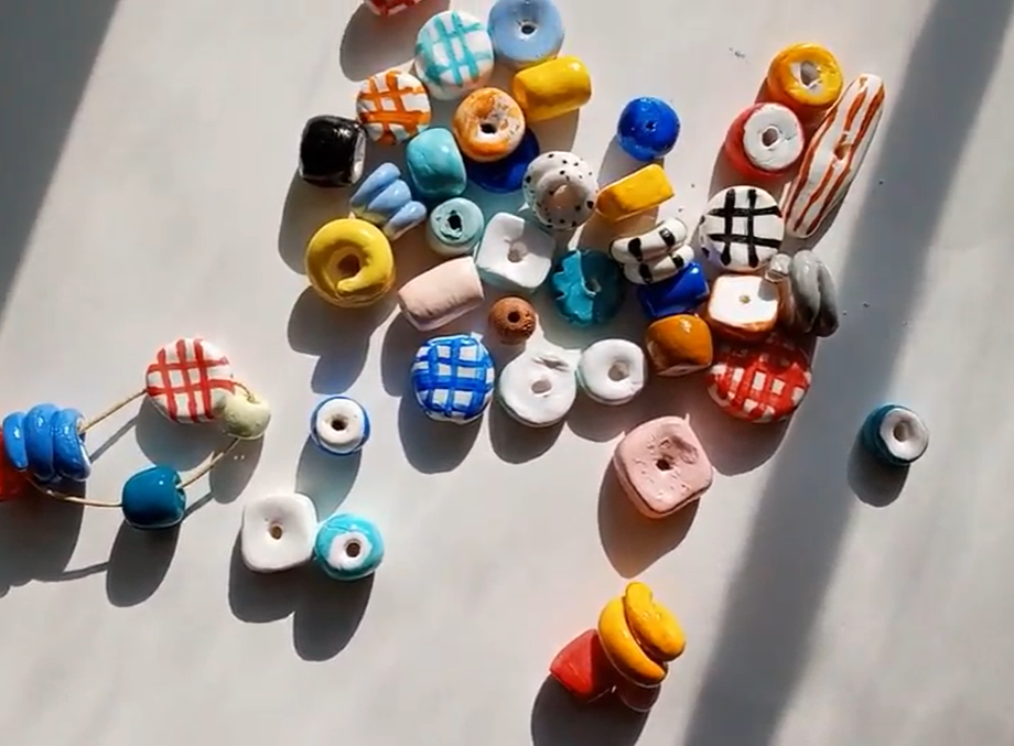 modeling clay beads