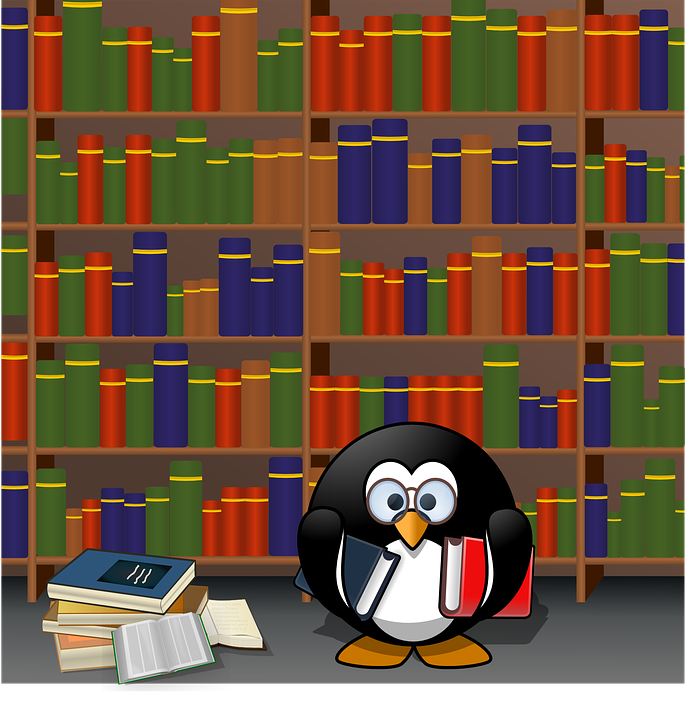 Penguin, Books, Library ...
