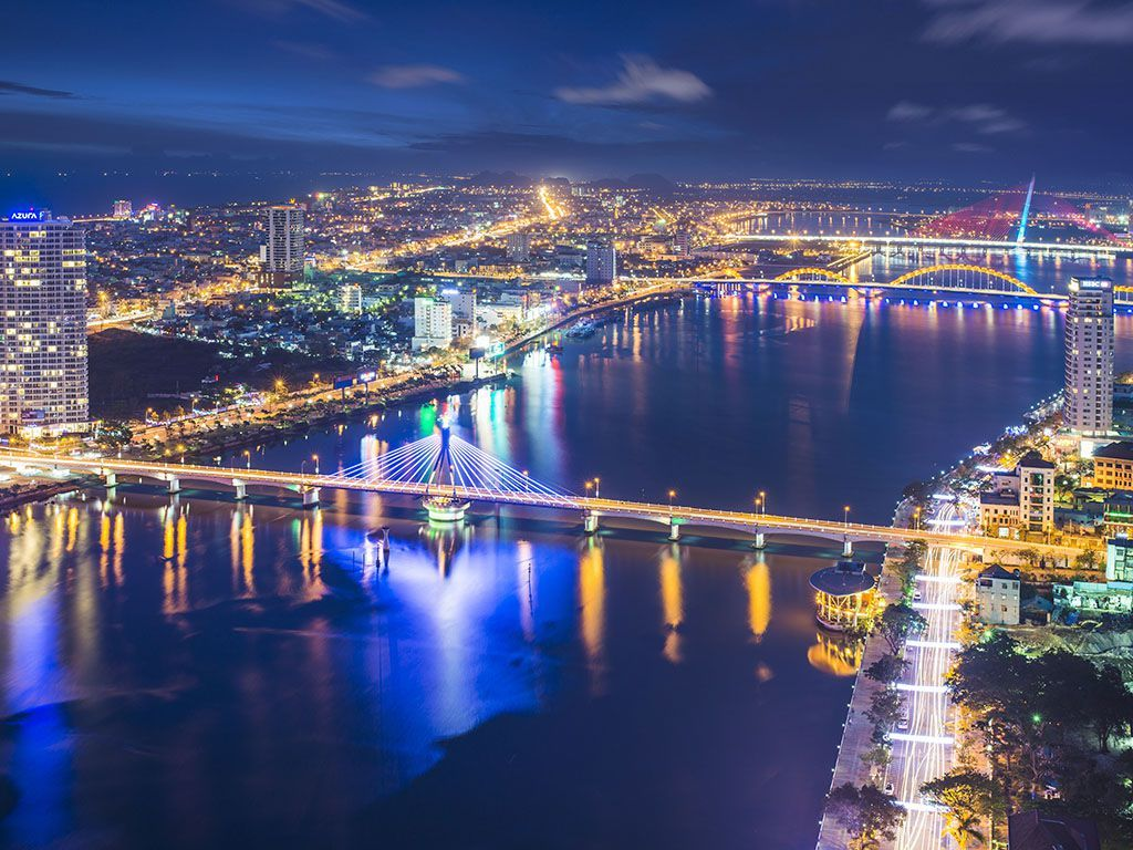 Han River Bridge at night