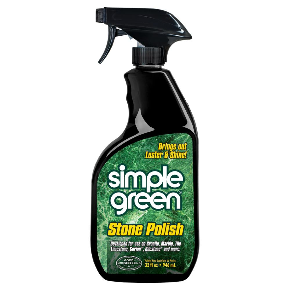 bottle of simple green stone polish