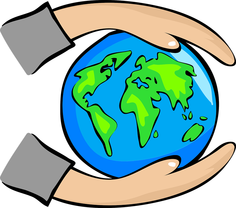 Free vector graphic: Abstract, Art, Earth, Globe, Hands - Free ...