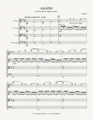 Sigur Ros Sheet Music