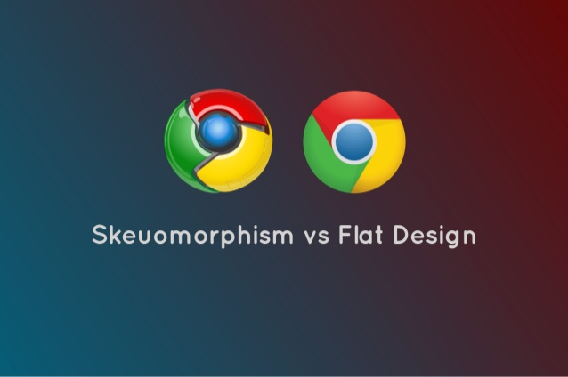 The History of Web Design example of skeuomorphism vs flat design google logo
