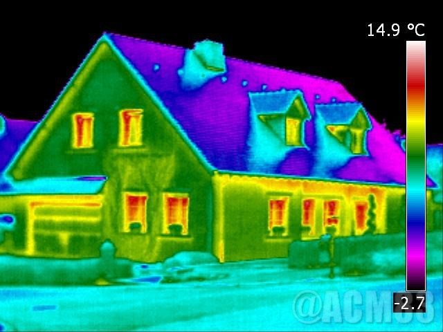Image vue thermique passoire énergétique