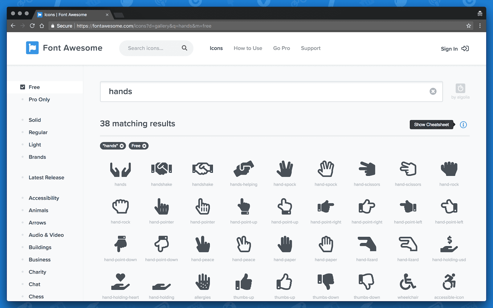 vue awesome icons