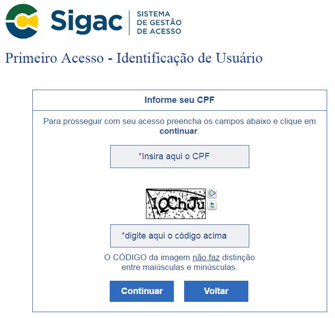 primeiro acesso SIGEPE