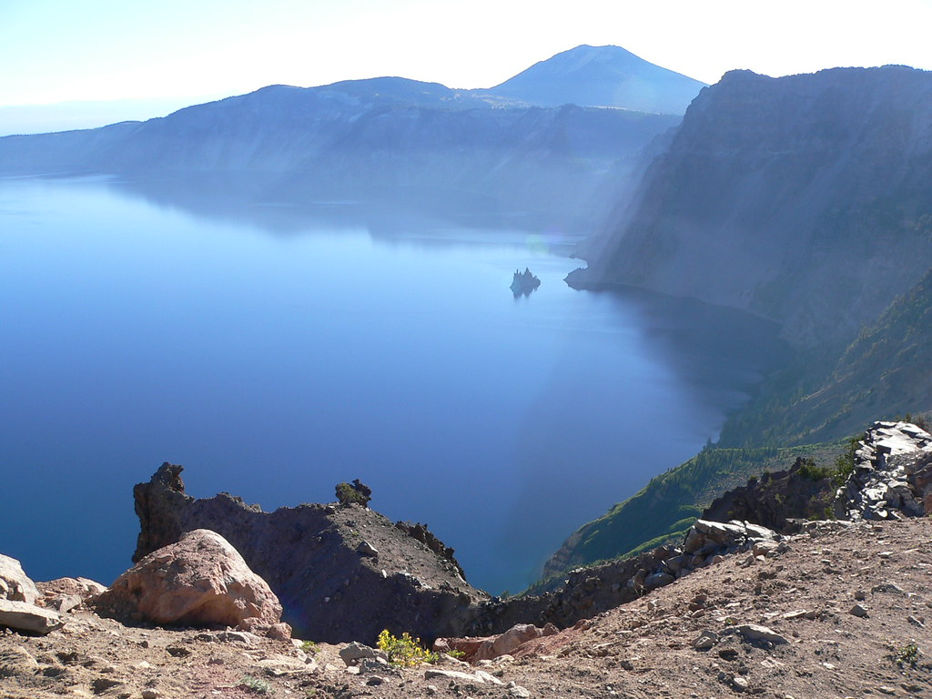The view of Crater Lake as seen from Garfield Peak.