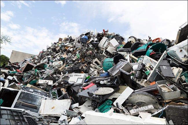 A pile of e-waste.