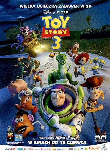 Przód ulotki filmu 'Toy Story 3'
