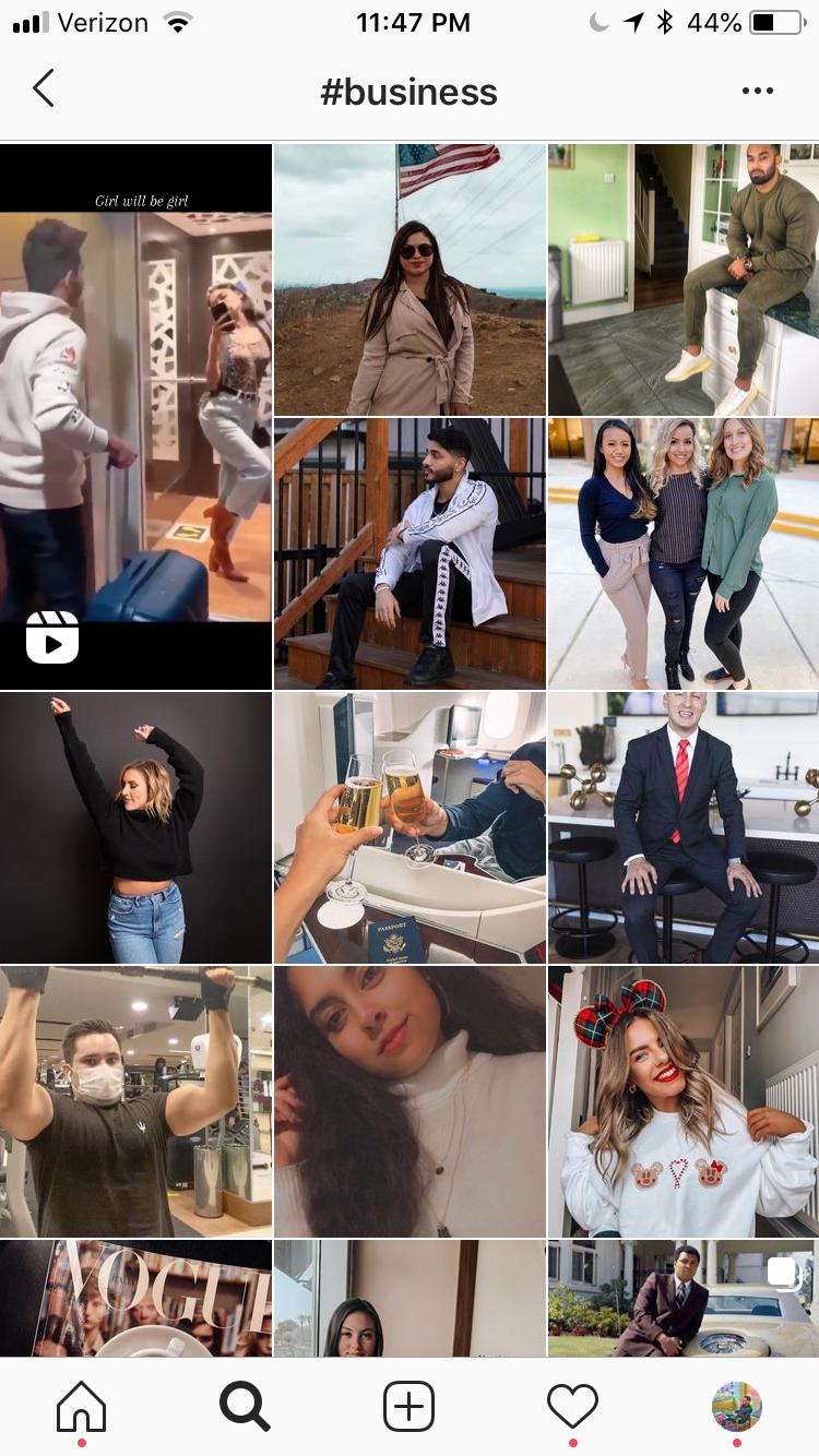 trending instagram hashtags for business