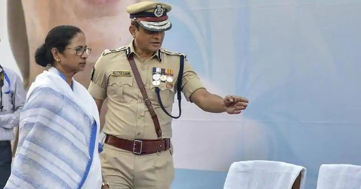 Image result for mamata banerjee with rakesh police commissioner