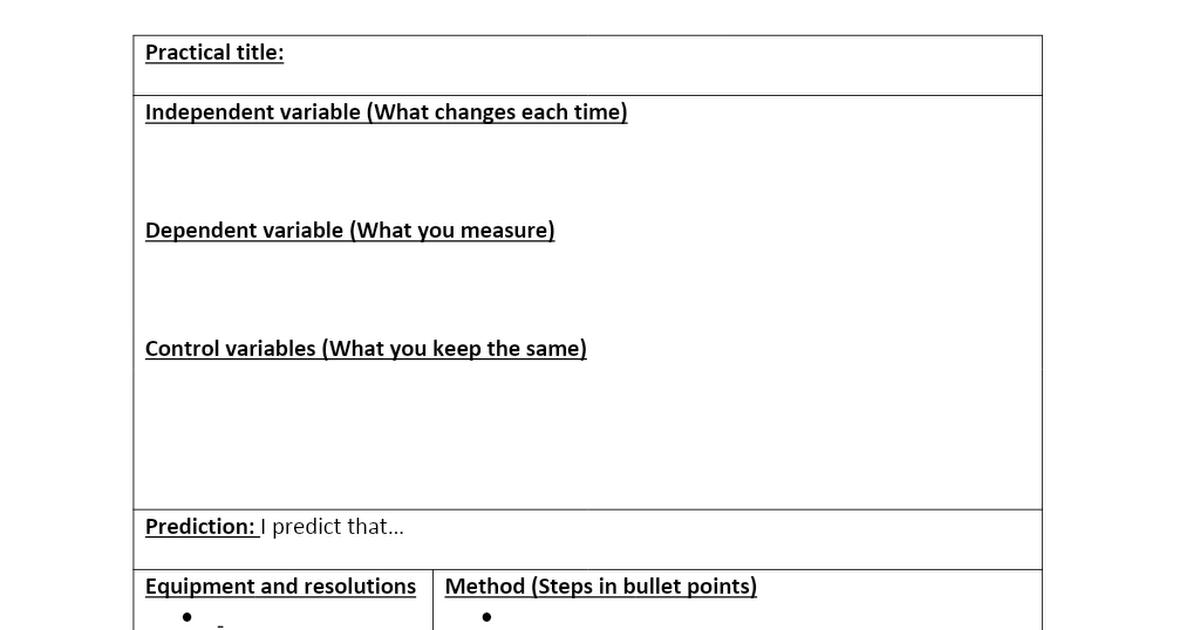 Practical planning sheet.docx - Google Drive