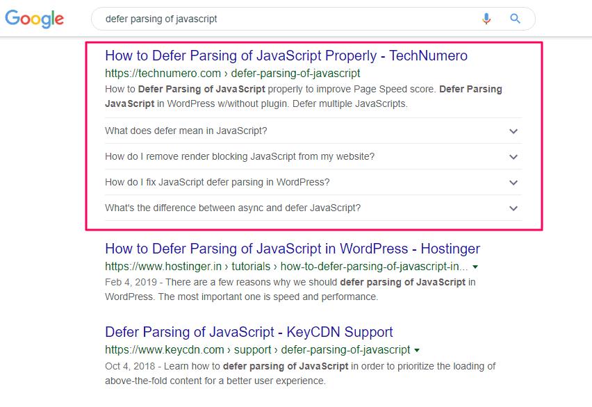 FAQ Rich results in Google Search Desktop