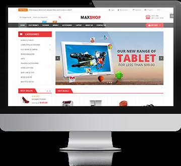Magento electronics theme maxshop