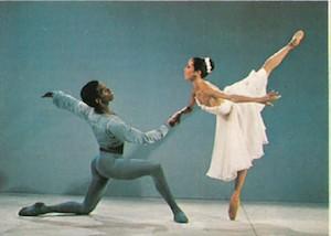 "Virginia Johnson and Paul Russell in ""Allegro Brillante""."