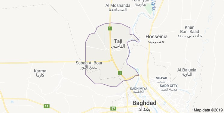 حمله موشکی به دو خودرو در منطقه التاجی بغداد توسط آمریکا