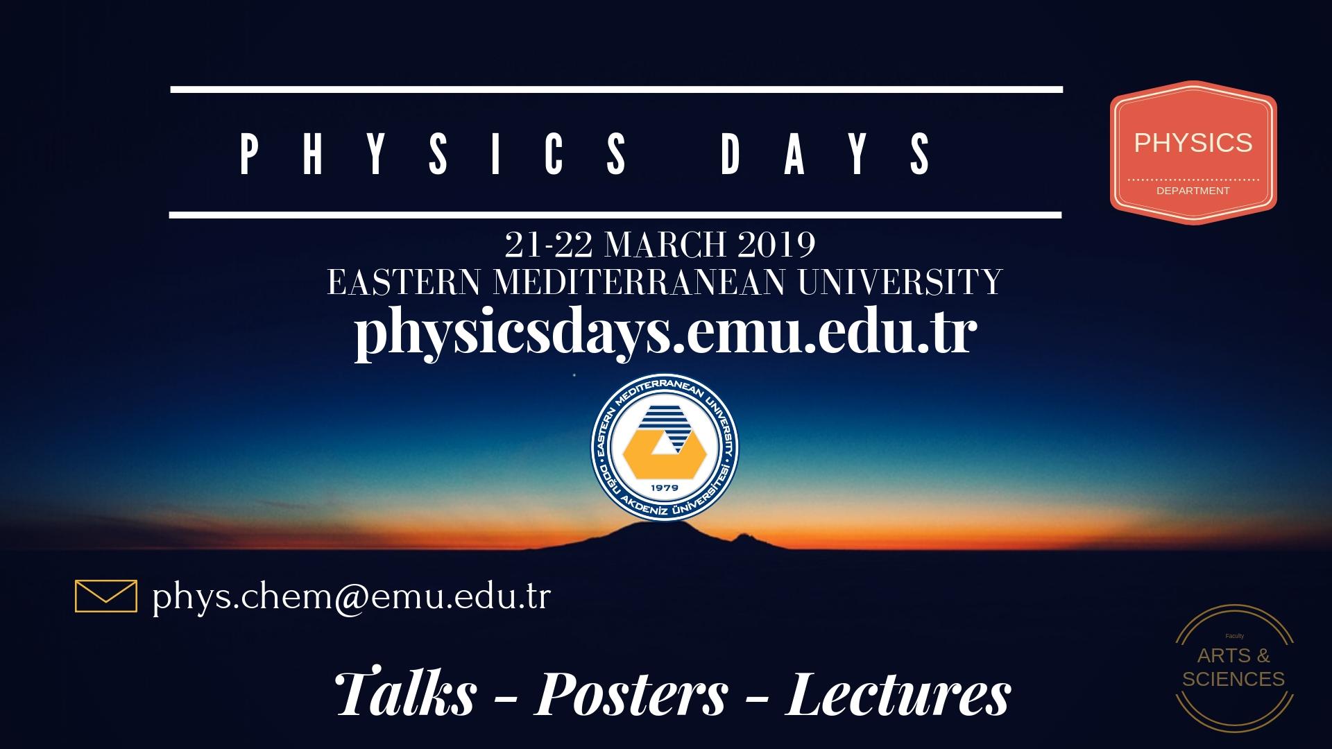 PHYSICS DAYS 2019