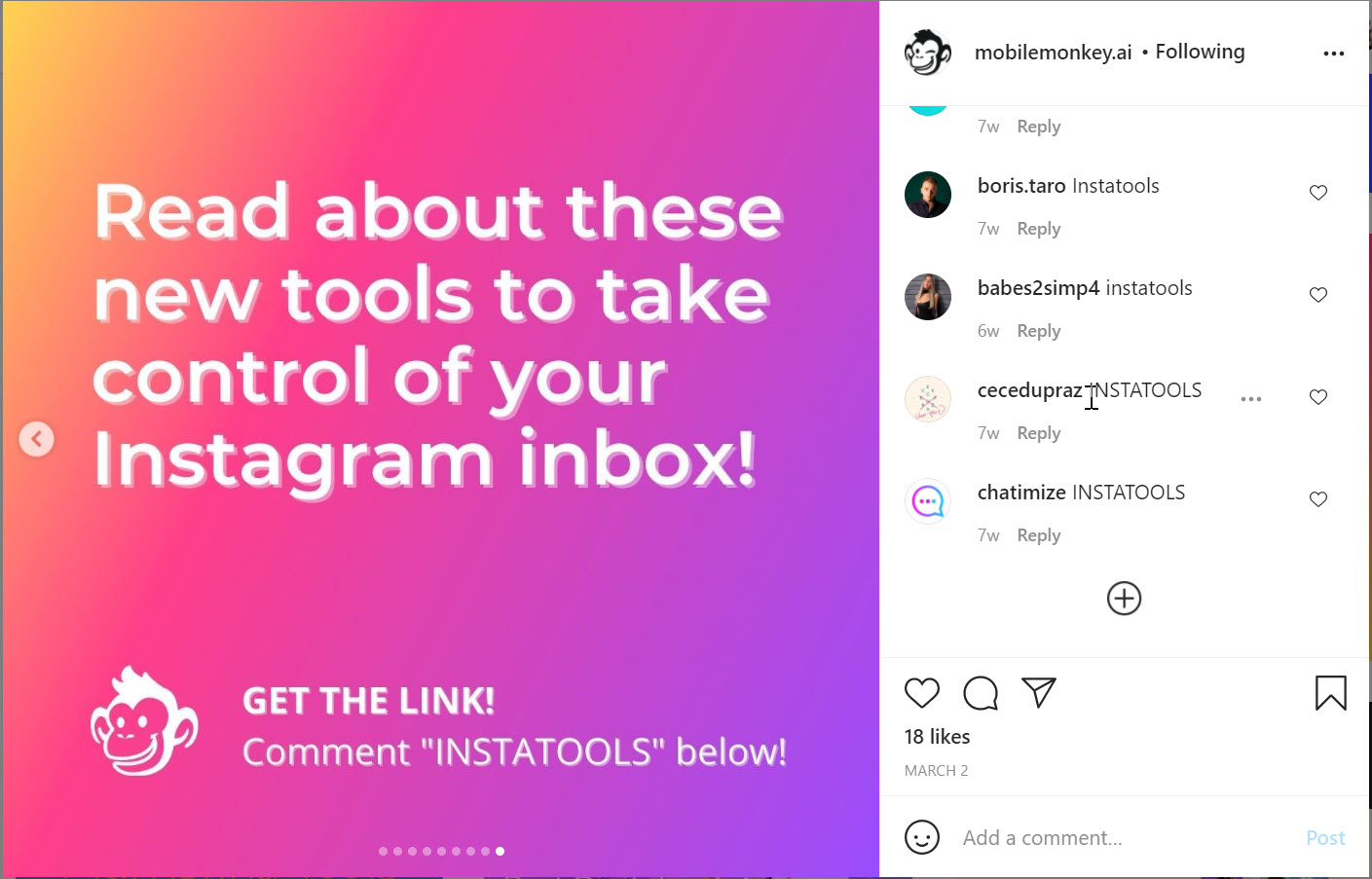 Include a call to action in your Instagram carousel posts