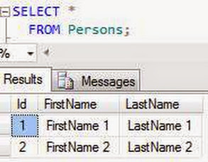 select * from Persons
