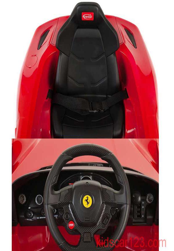 siêu oto điện Ferrari F12 81900 màu đỏ chi tiết nội thất
