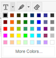 Image showing all the text color options, highlight color options, or option to remove formatting