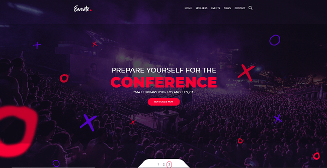 template web gratis evento