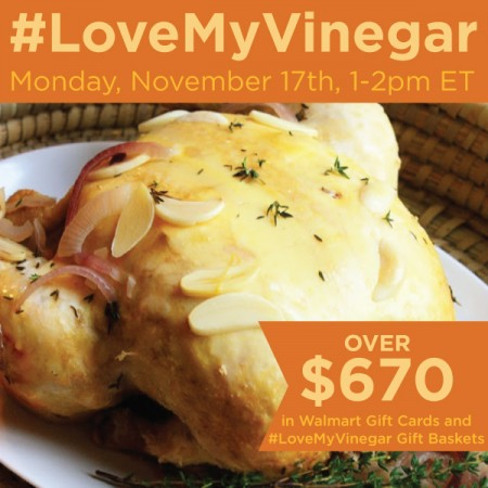 Join the #LoveMyVinegar Twitter Party 11/17 at 1pm ET. $670 in prizes and tips for enhancing recipes with De Nigris Seasoned White Wine Vinegar #shop #cbias